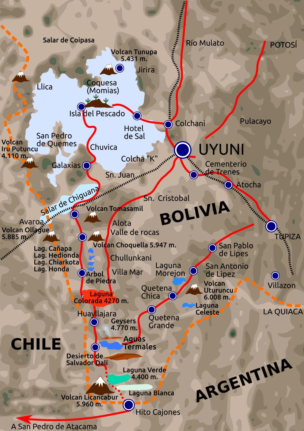 El Desierto De Atacama Map